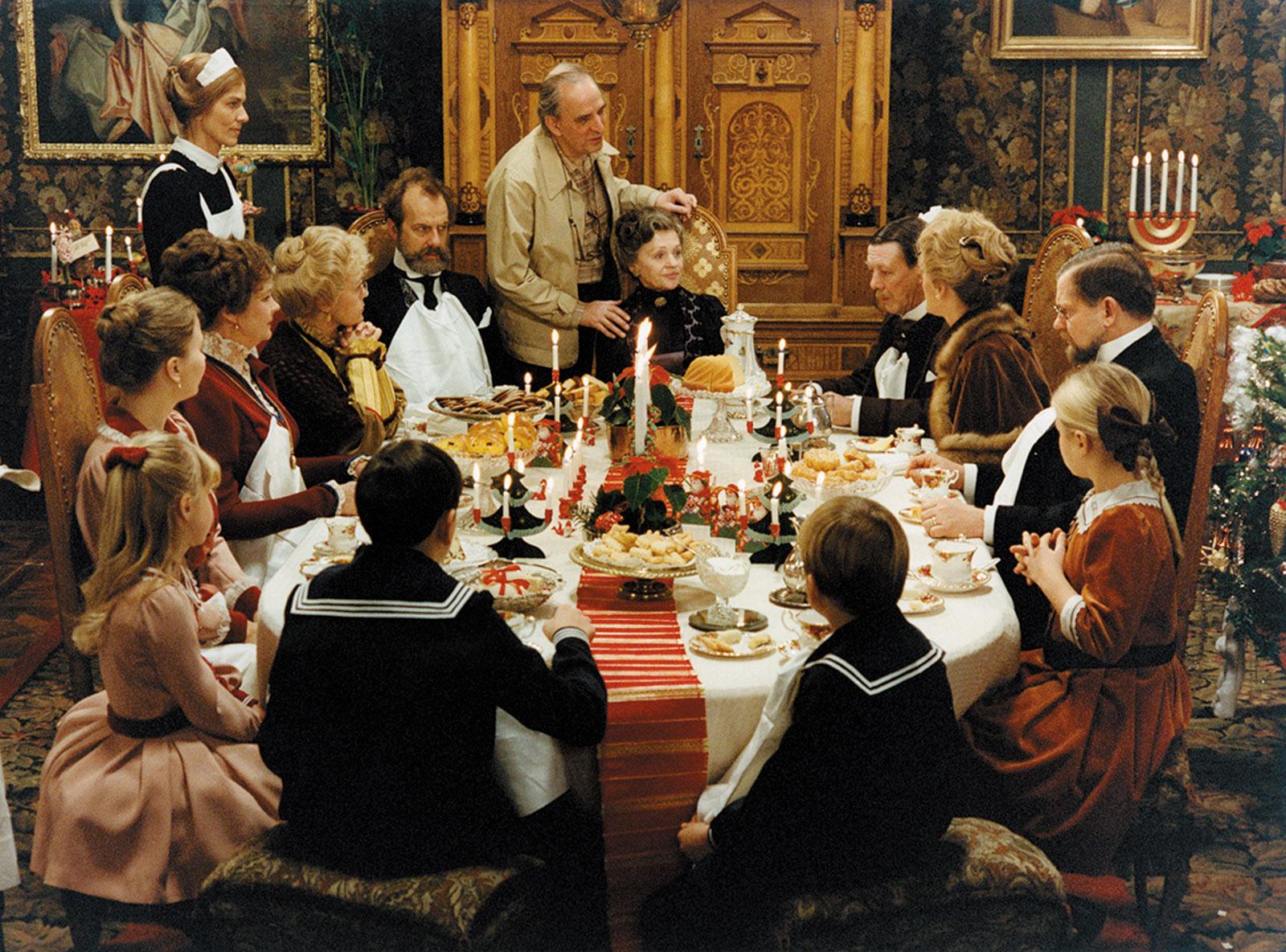 ngmar Bergman on the set of Fanny and Alexander