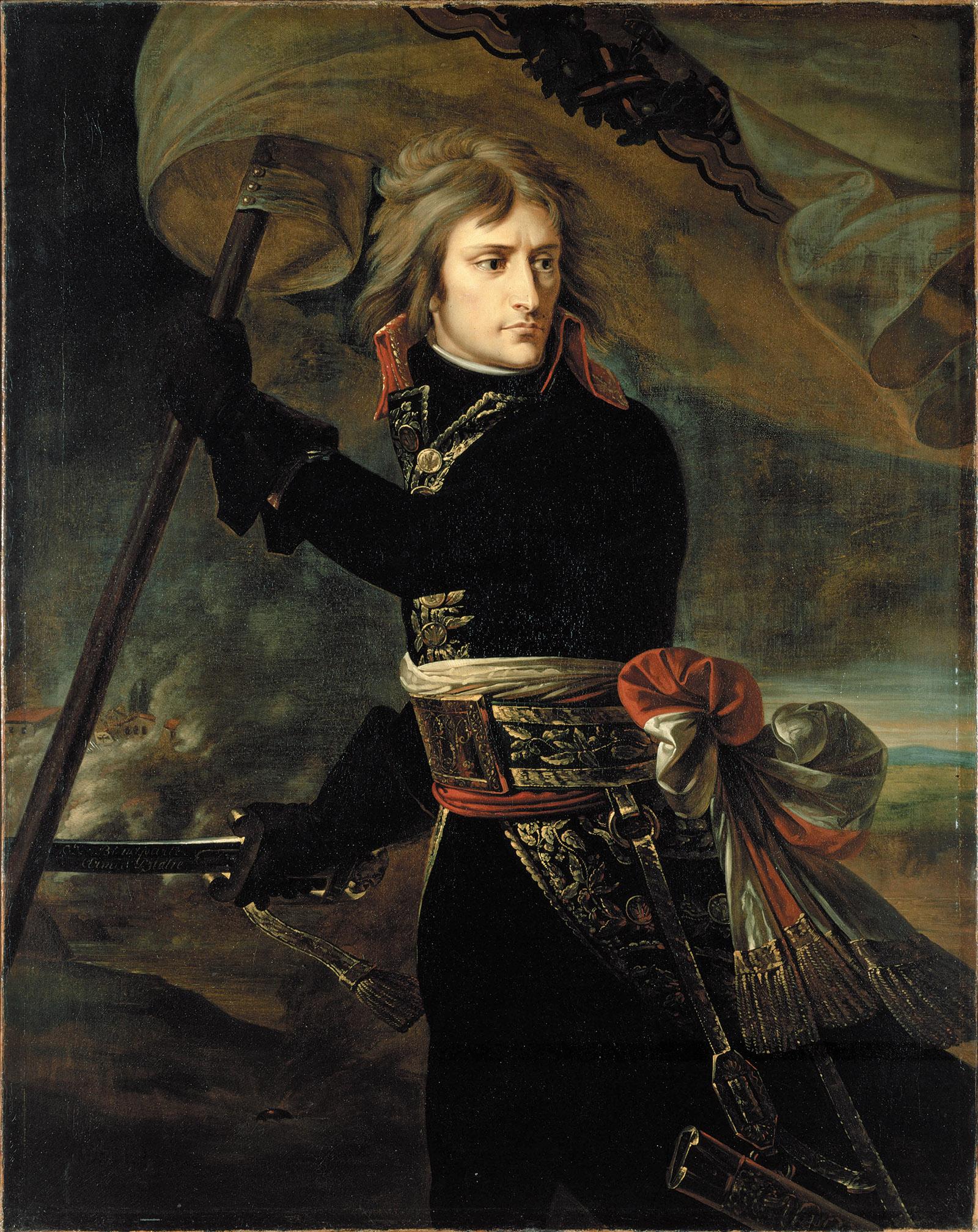 Napoleon Bonaparte at the Bridge of Arcole, 1796 by Antoine-Jean Gros