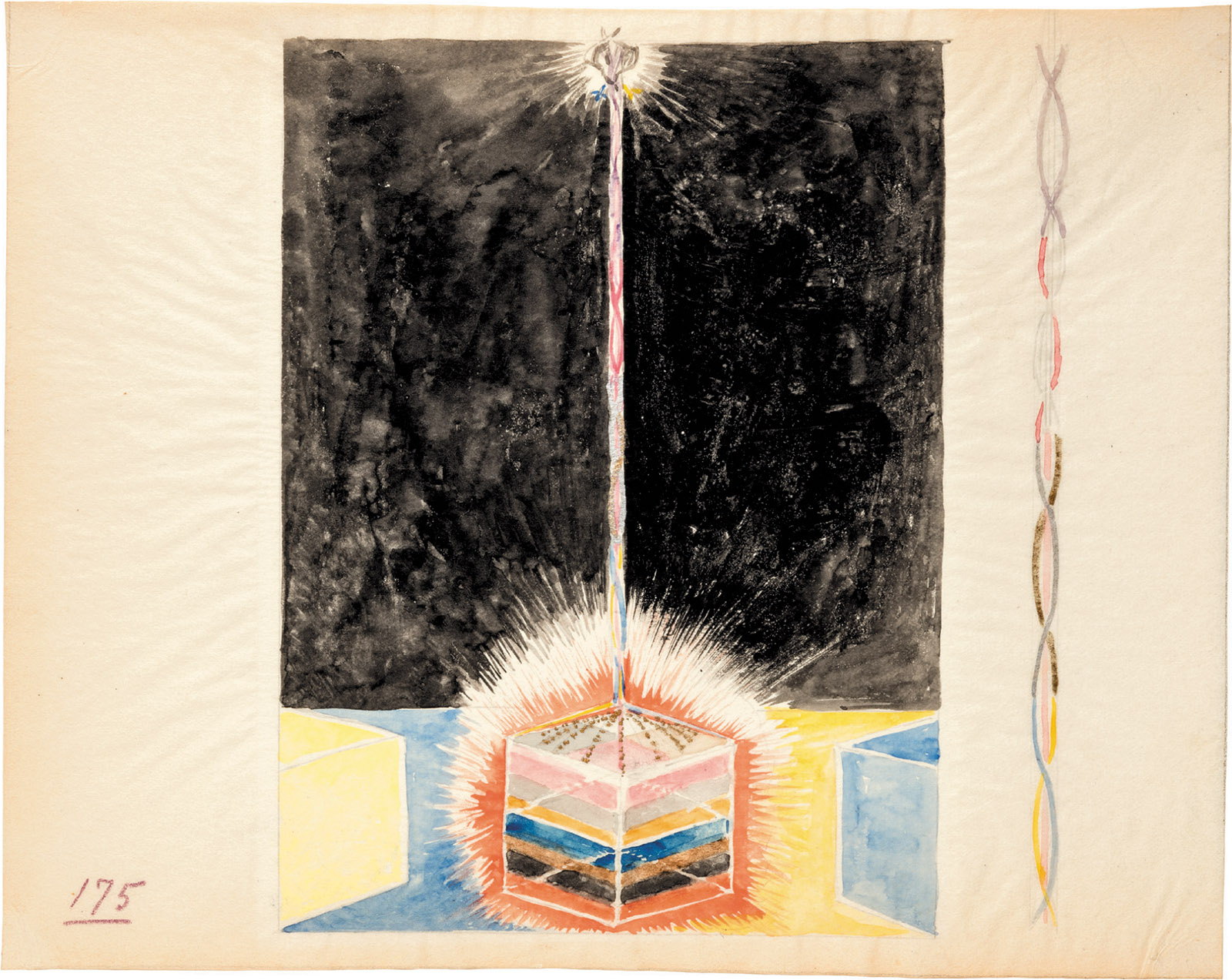 One of Hilma af Klint's Paintings for the Temple, circa 1914–1915