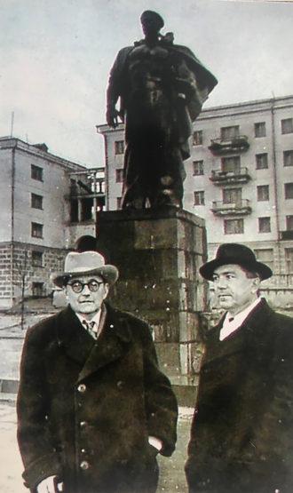 Dmitri Shostakovich with Anatoly Alexandrov, the author's grandfather, Novorossiysk, Russia, 1961
