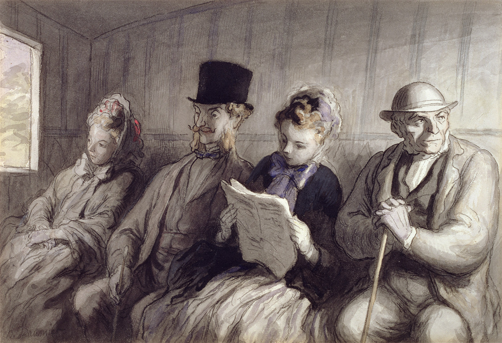Honoré Daumier: The First Class Carriage, 1864