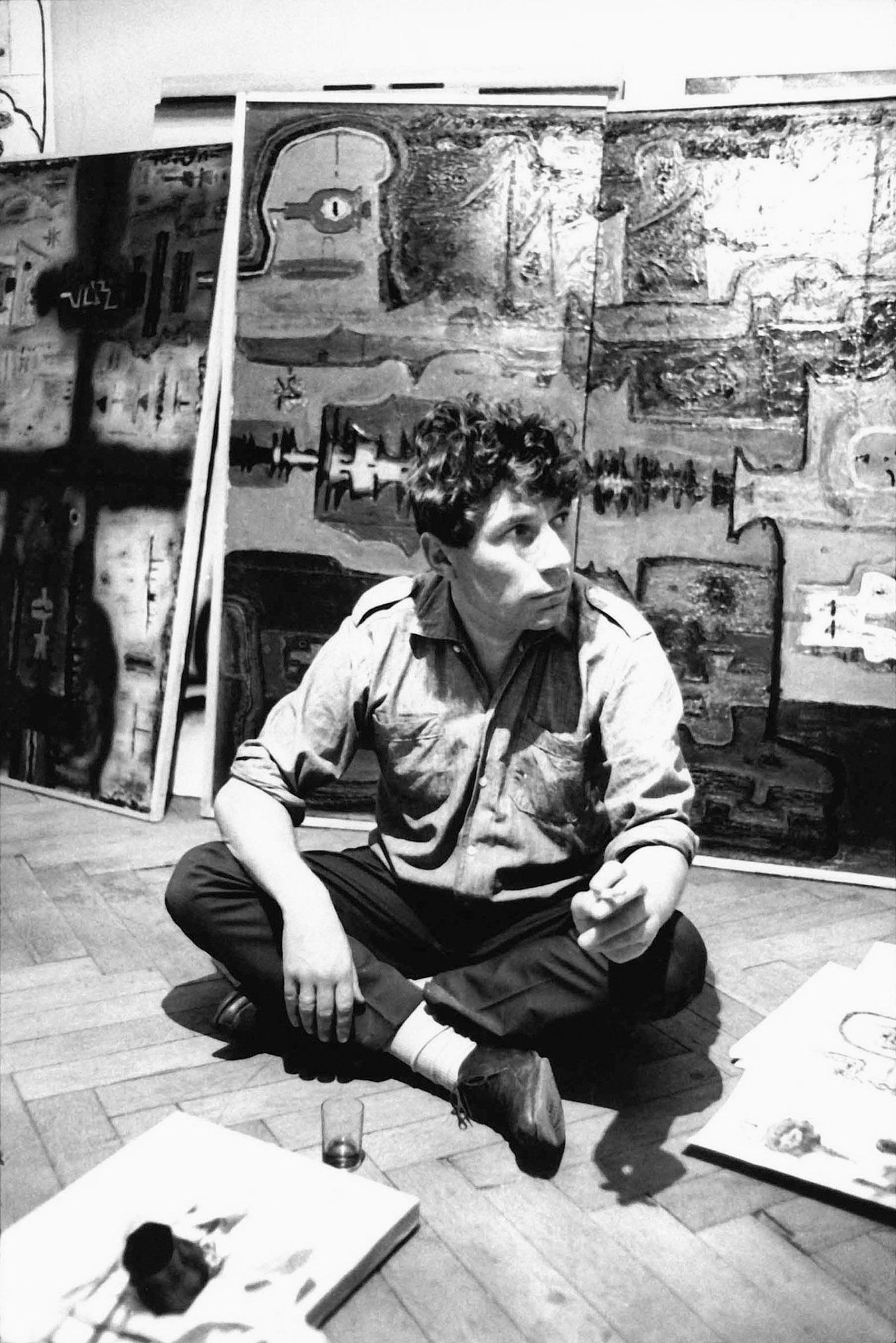 John Berger, circa 1966; photograph by Jean Mohr