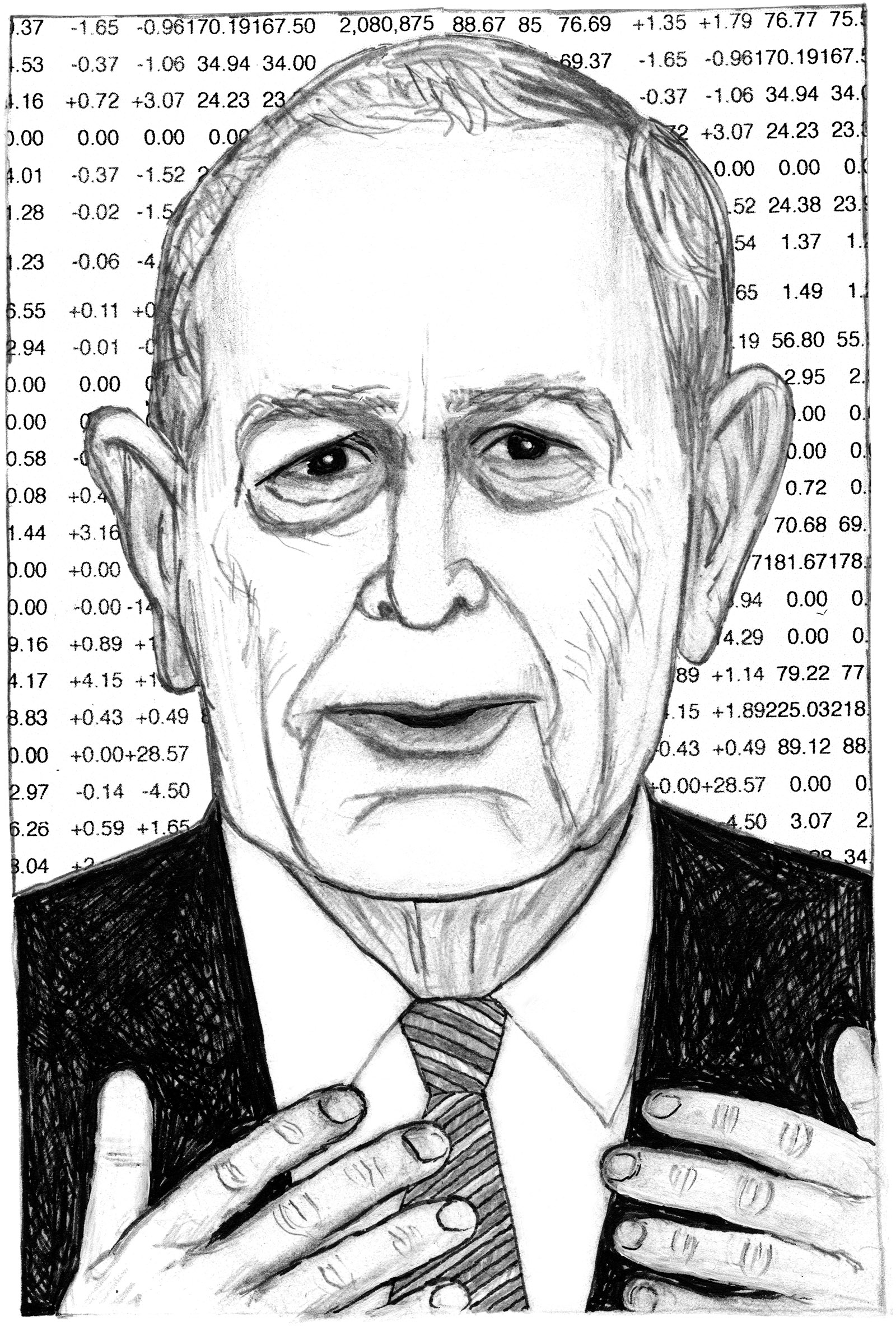 Michael Bloomberg; drawing by Mark Alan Stamaty