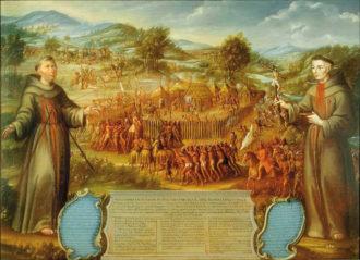 José de Páez: The Destruction of the Saint Sabá Mission in the Province of Texas and the Martyrdom of the Priests, Fray Alonso Giraldo de Terreros and Fray José de Santiesteban, circa 1758