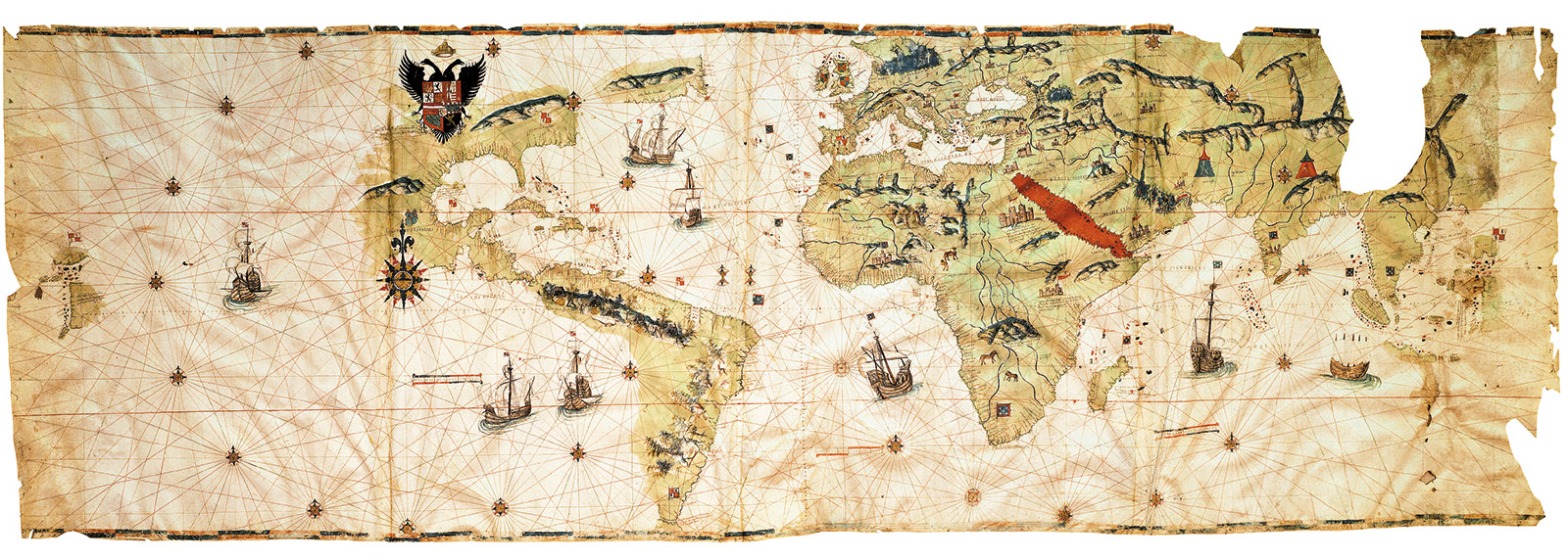 World Map by Juan Vespucci, Seville, 1526