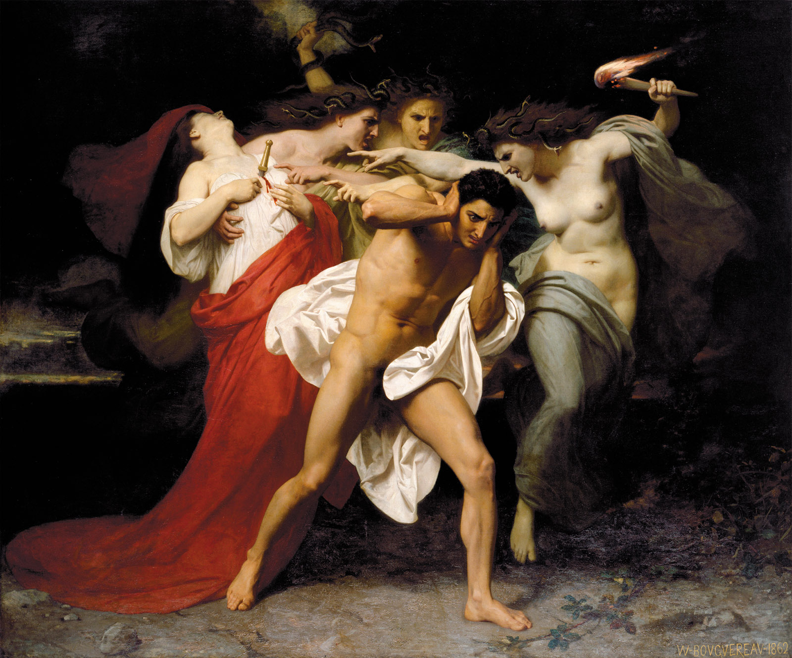 Orestes Pursued by the Furies by William-Adolphe Bouguereau