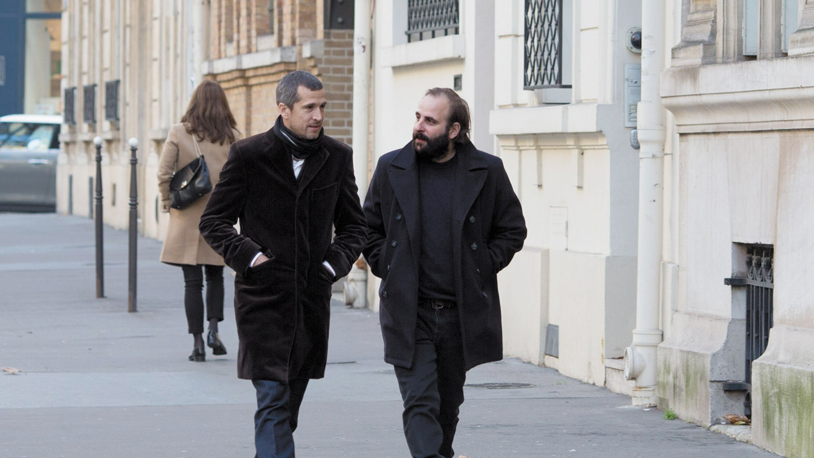 Guillaume Canet and Vincent Macaigne in Non-Fiction