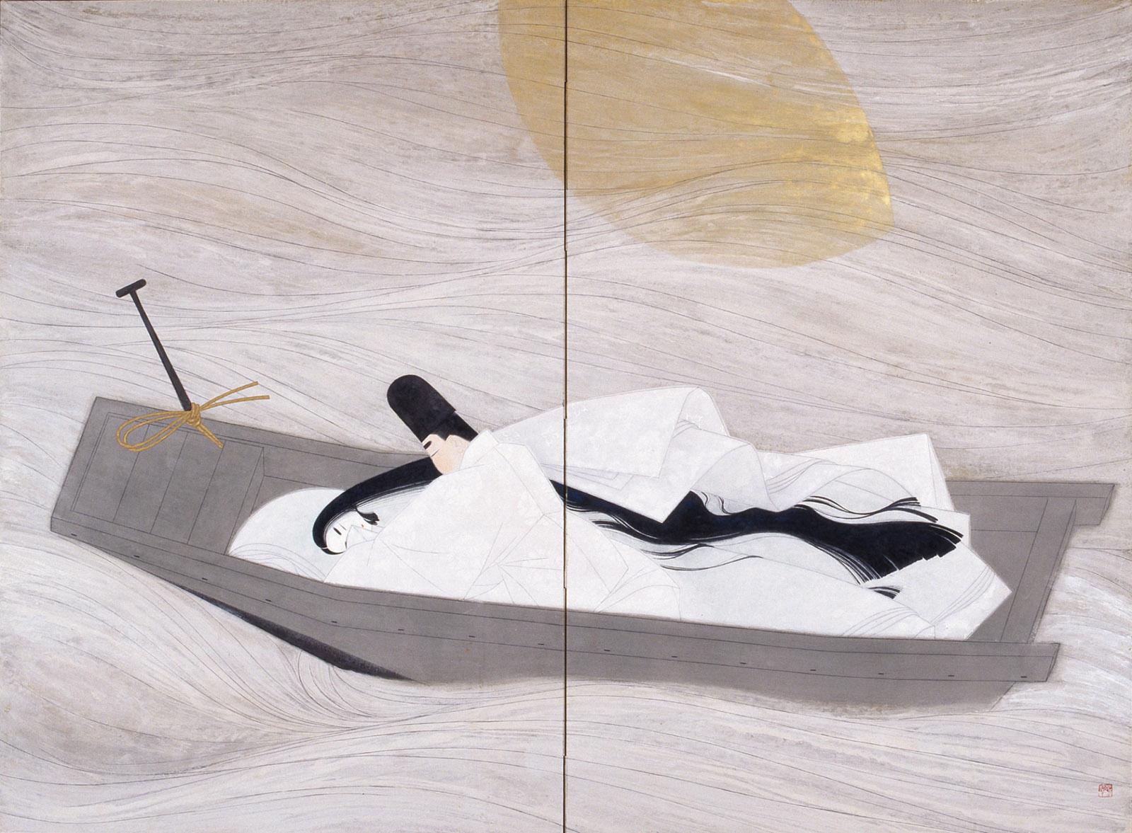 A Boat Cast Adrift (Ukifune) by Sata Yoshirō