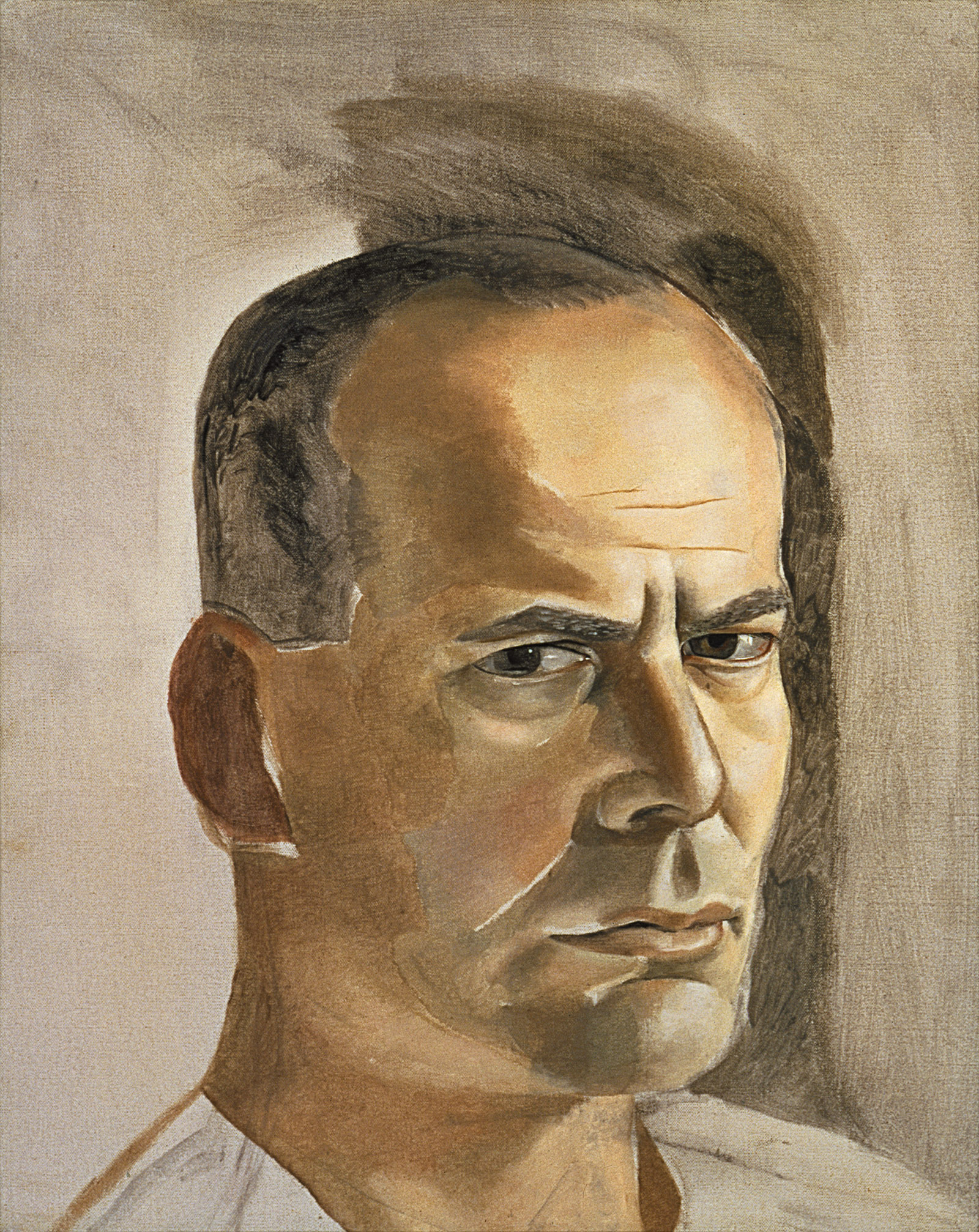 Lucian Freud: Portrait of Lincoln Kirstein, 19 3/4 x 15 1/2 inches, 1950