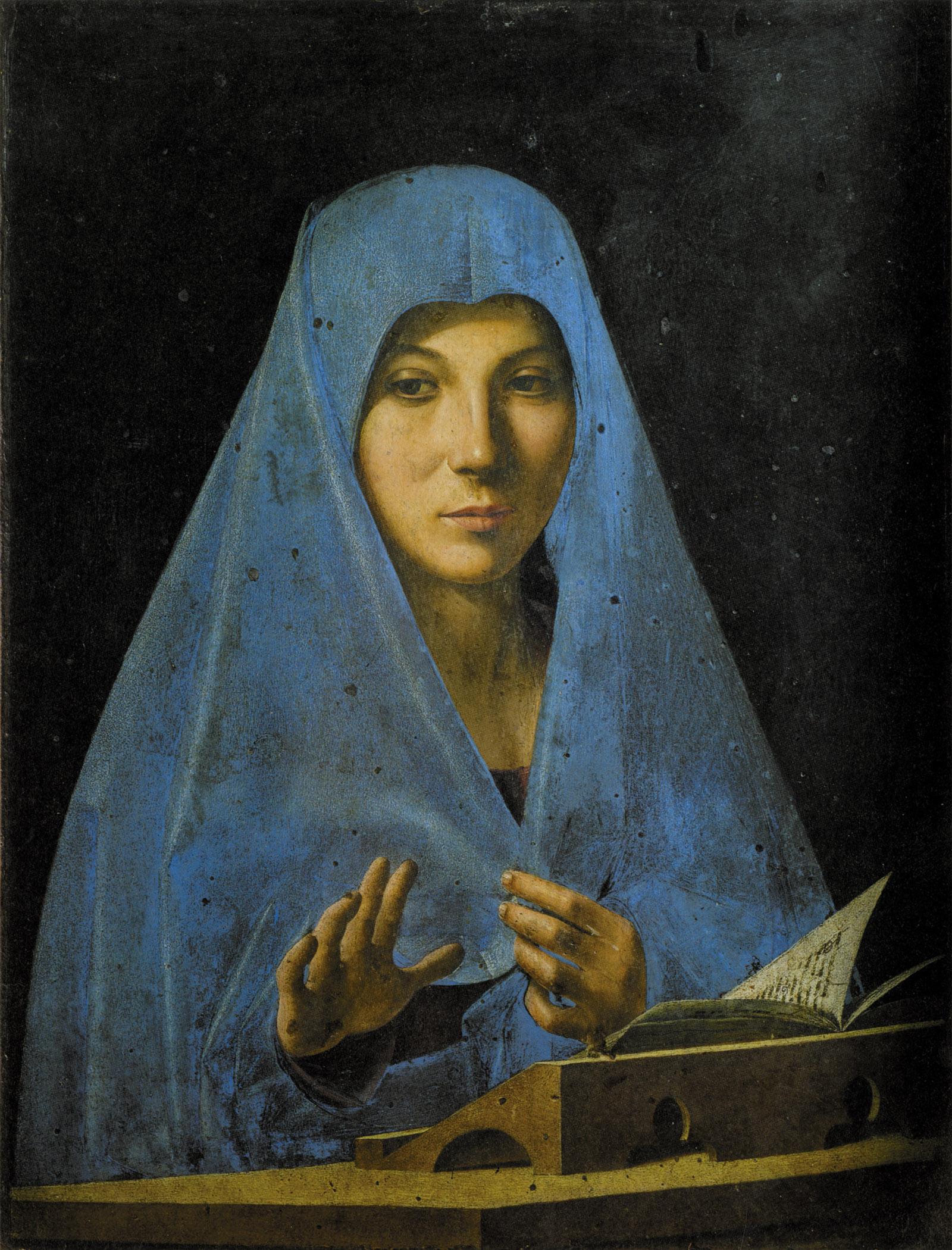 Annunciate Madonna by Antonello da Messina