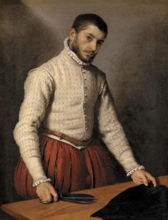 Giovanni Battista Moroni: The Tailor, 39 1/8 x 30 1/4 inches, circa 1570