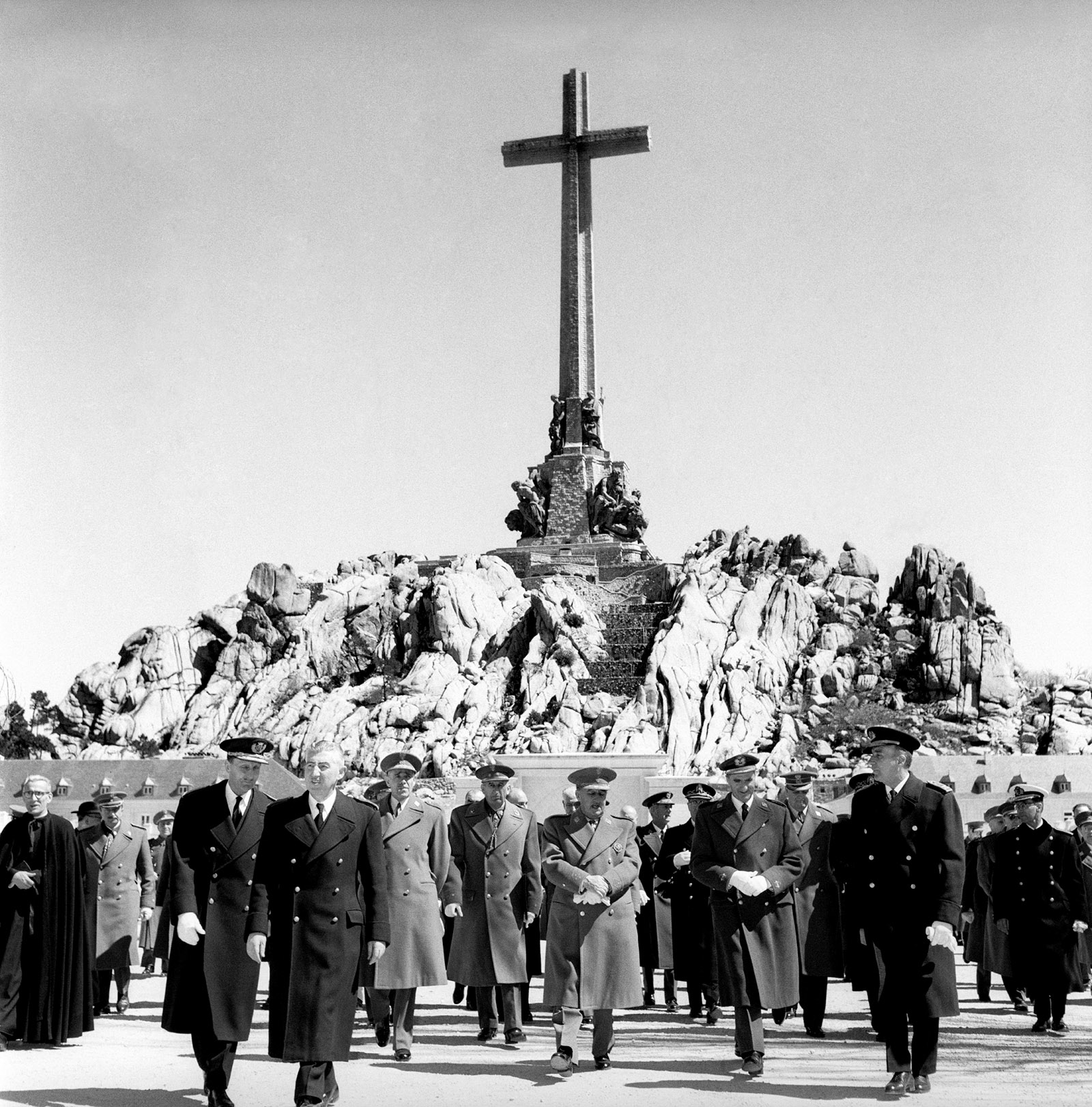 Franco t the inauguration of the Valley of the Fallen, Madrid, April 1959