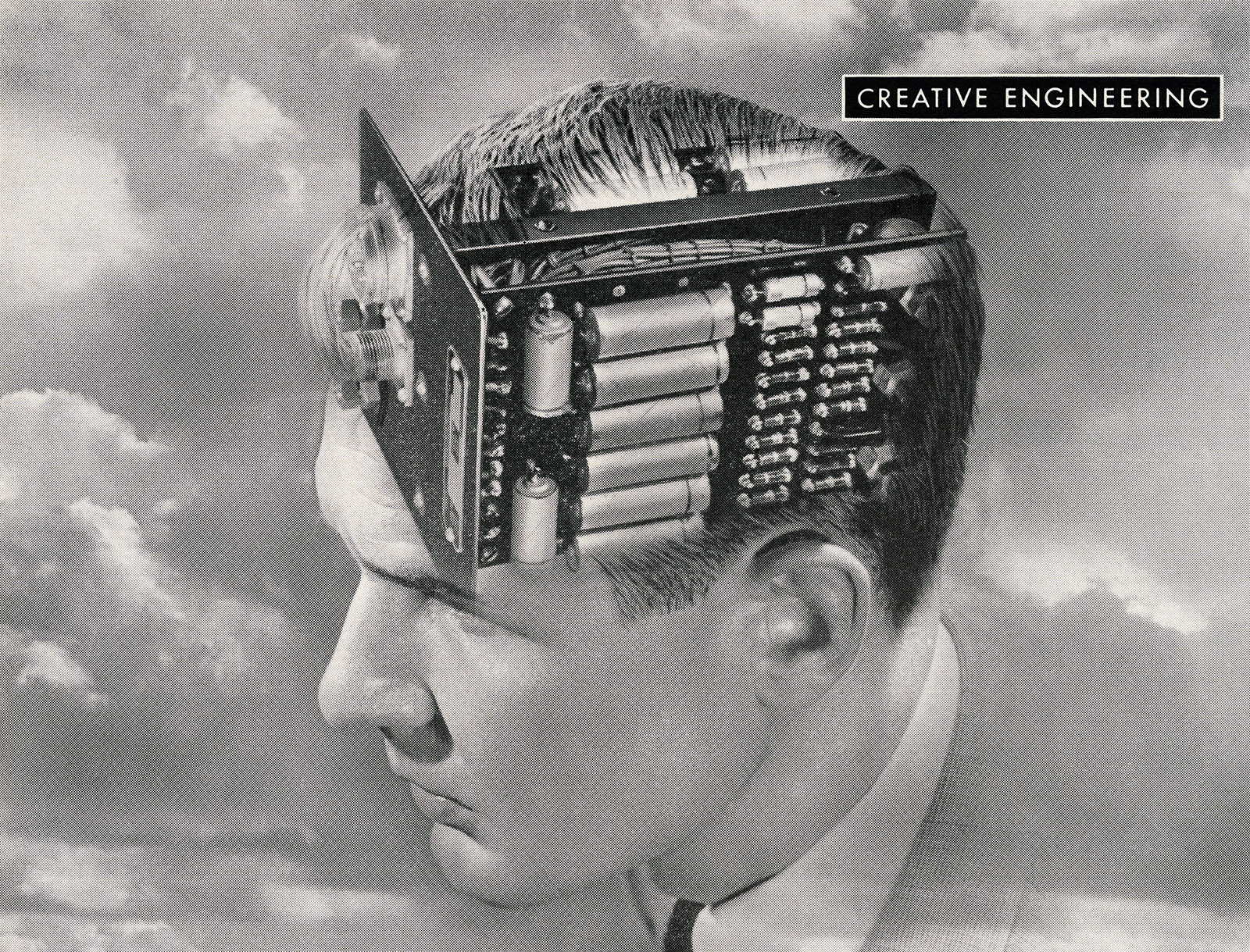 Man with an Electronic Circuit Board for a Brain, (artist unknown), 1949