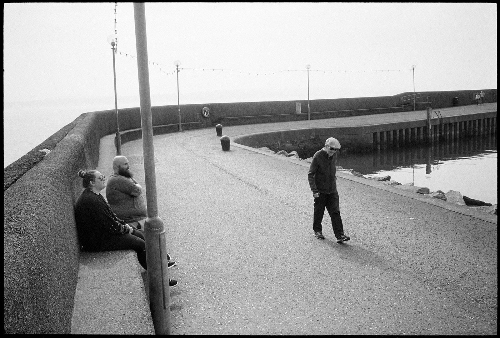GB. Northern Ireland. Carrickfergus. 2019. Breakwater at the harbour.