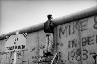 The Berlin Wall, November 1989; photograph by Raymond Depardon