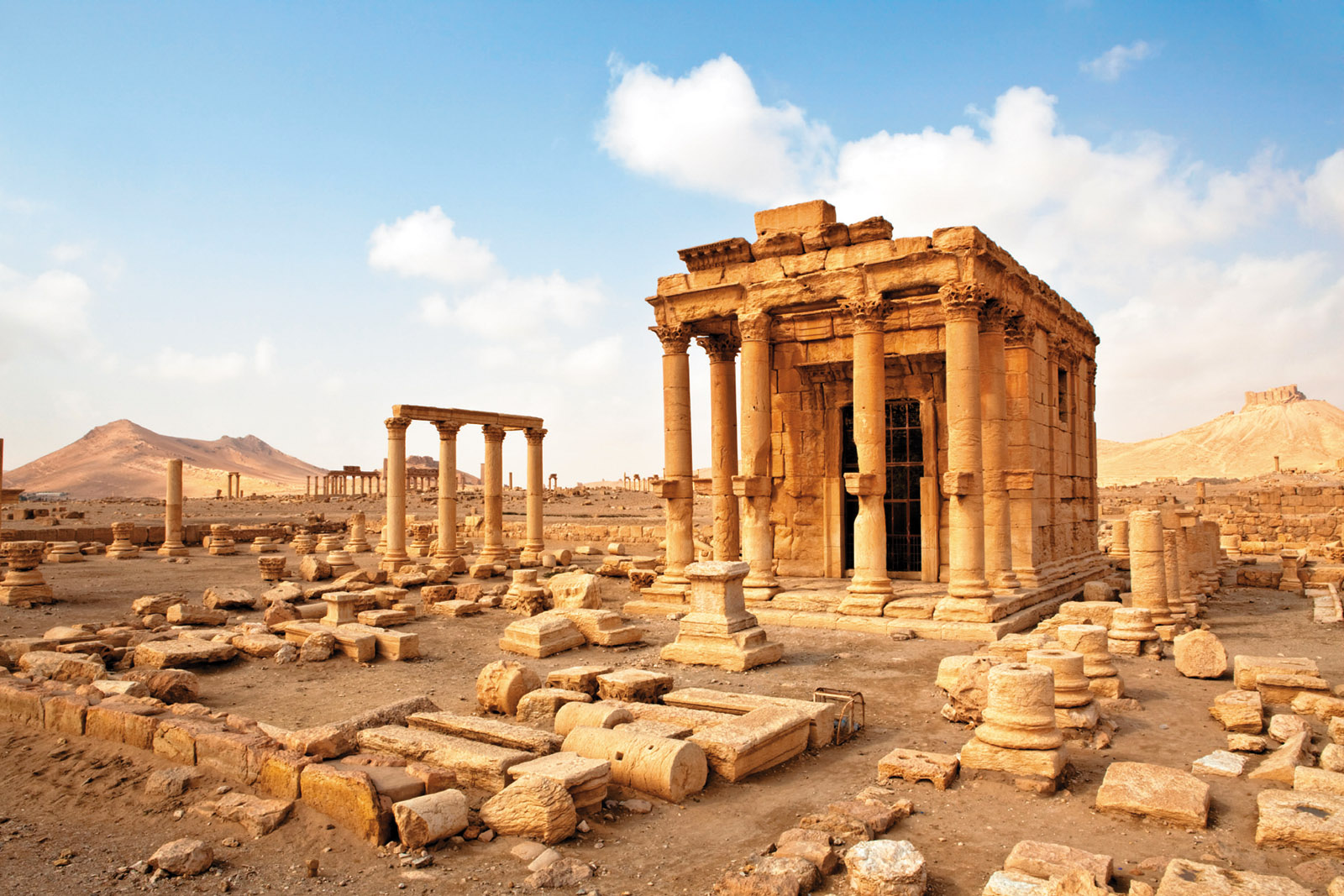 The ruins of the ancient city of Palmyra in 2009, many of which were destroyed by ISIS militants in 2015