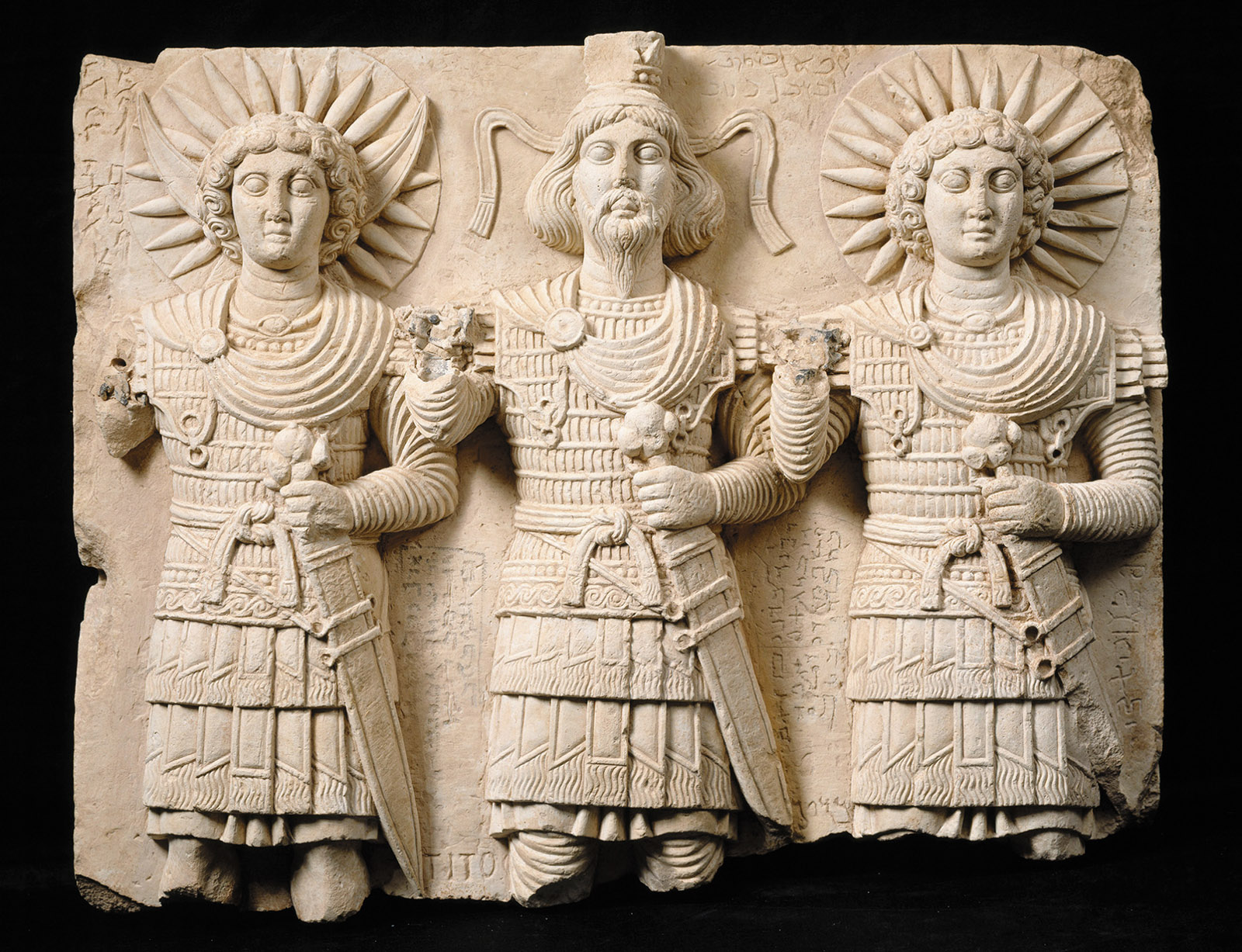Relief with Three Palmyrene Gods, first century CE