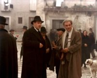 Paolo Bonacelli as a pro-Fascist mayor and Gian Maria Volontè	 as Carlo Levi in Francesco Rosi's Christ Stopped at Eboli, 1979