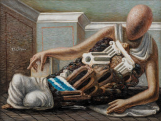 Giorgio de Chirico: The Archaeologist, 1927; from Endless Enigma: Eight Centuries of Fantastic Art, the catalog of a recent exhibition at the David Zwirner Gallery. It is published by David Zwirner Books.