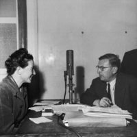 Simone de Beauvoir and Jean-Paul Sartre, Saint-Germain-des-Prés, Paris, circa 1945