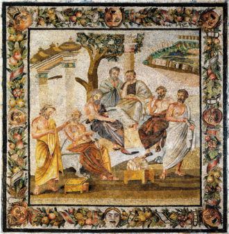 Mosaic of the Academy of Plato, Pompeii, circa first century BCE
