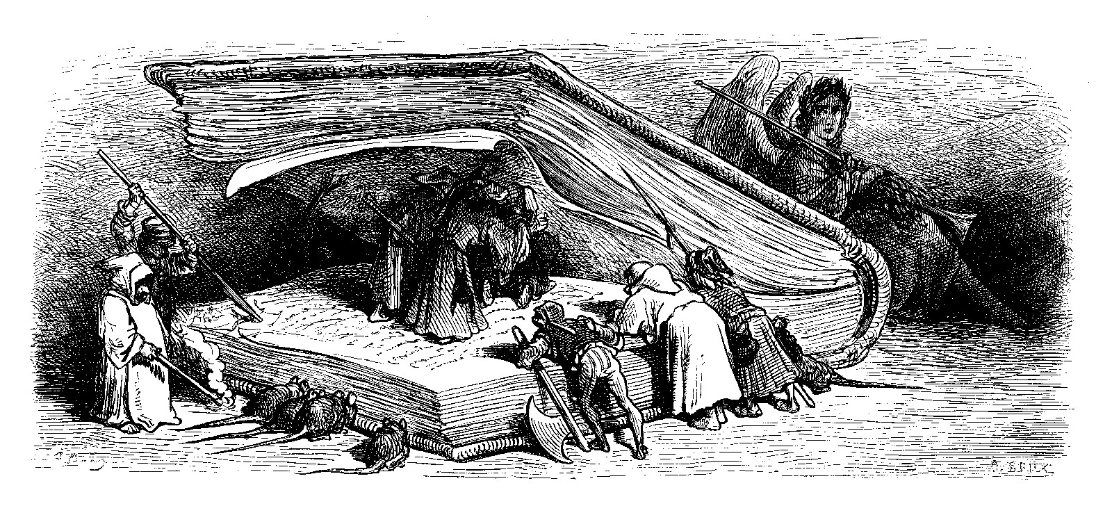 Engraving by Gustave Doré from François Rabelais's Gargantua and Pantagruel
