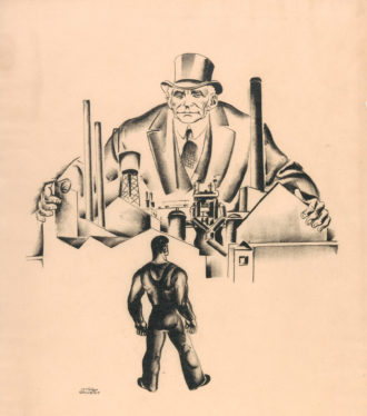 'Primary Accumulation 3 (Henry Ford)'; lithograph by Hugo Gellert, 1933