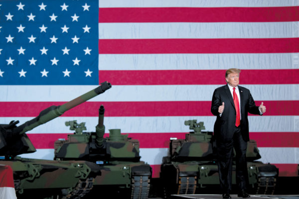 President Trump after touring the Lima Army Tank Plant, Lima, Ohio, March 20, 2019