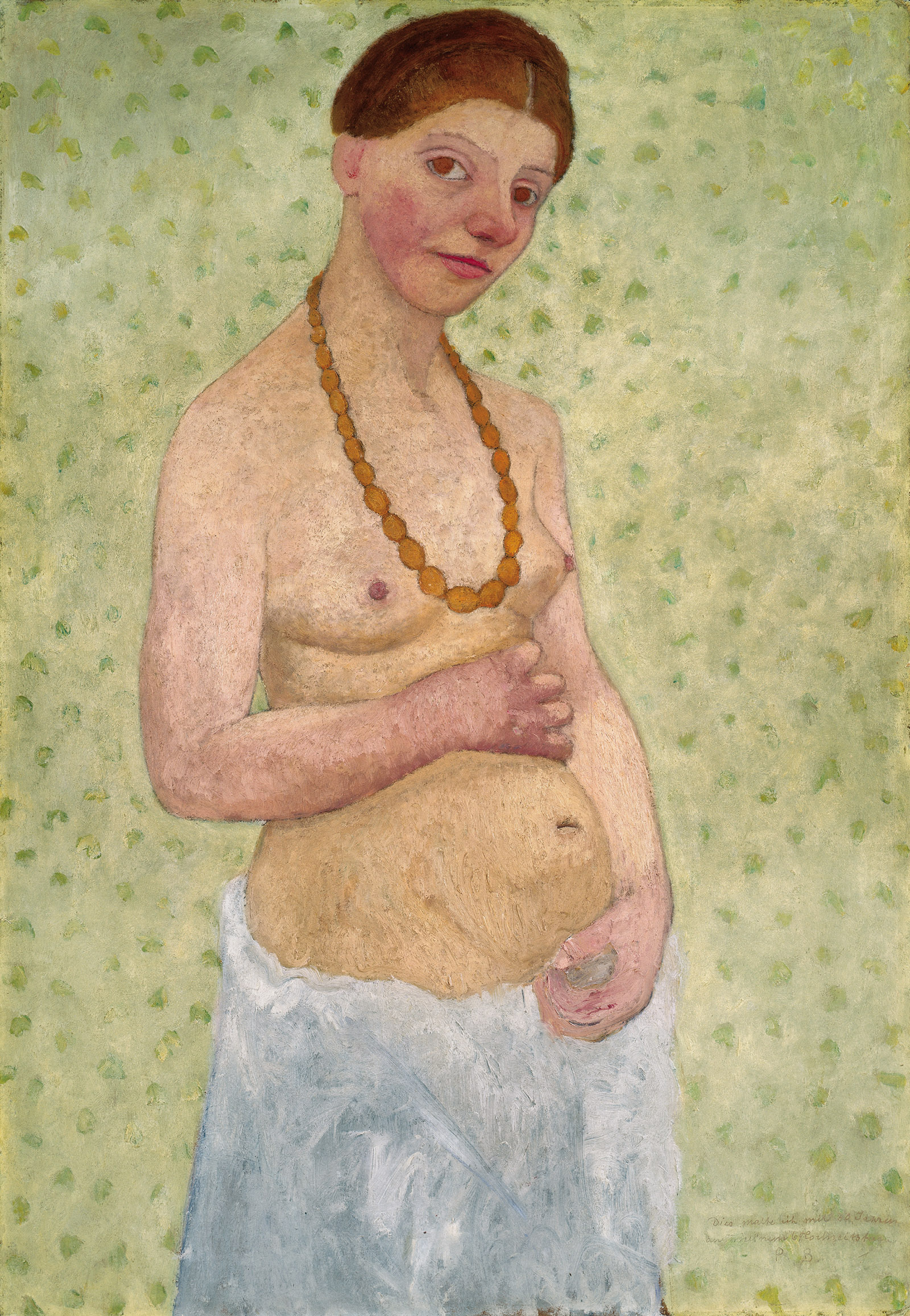 Self-Portrait on Her Sixth Wedding Anniversary by Paula Modersohn-Becker