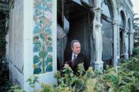 Giorgio Bassani at Villa Blanc, Rome, 1974