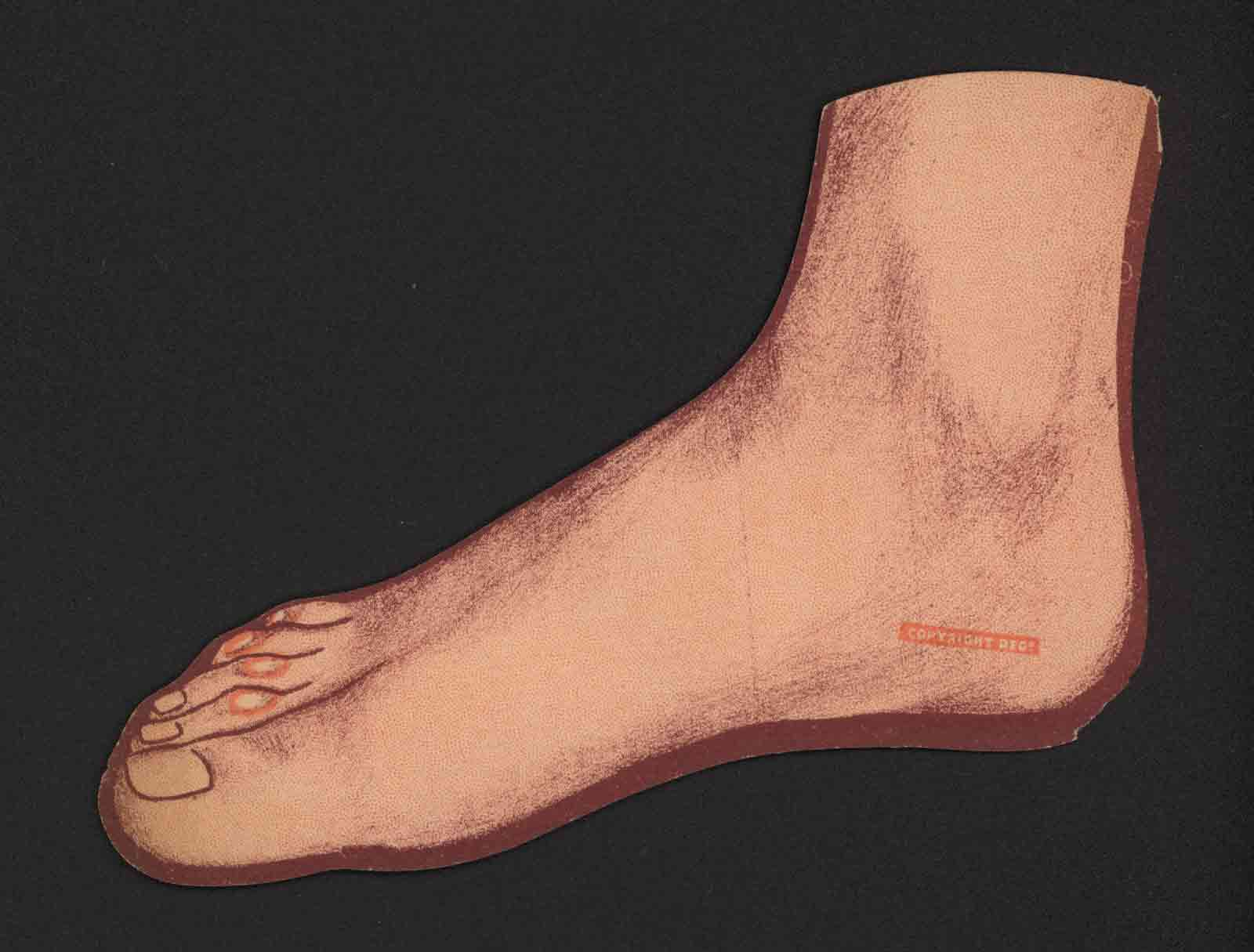Lithograph of a foot, twentieth century