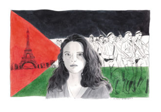 Isabella Hammad; drawing by Karl Stevens