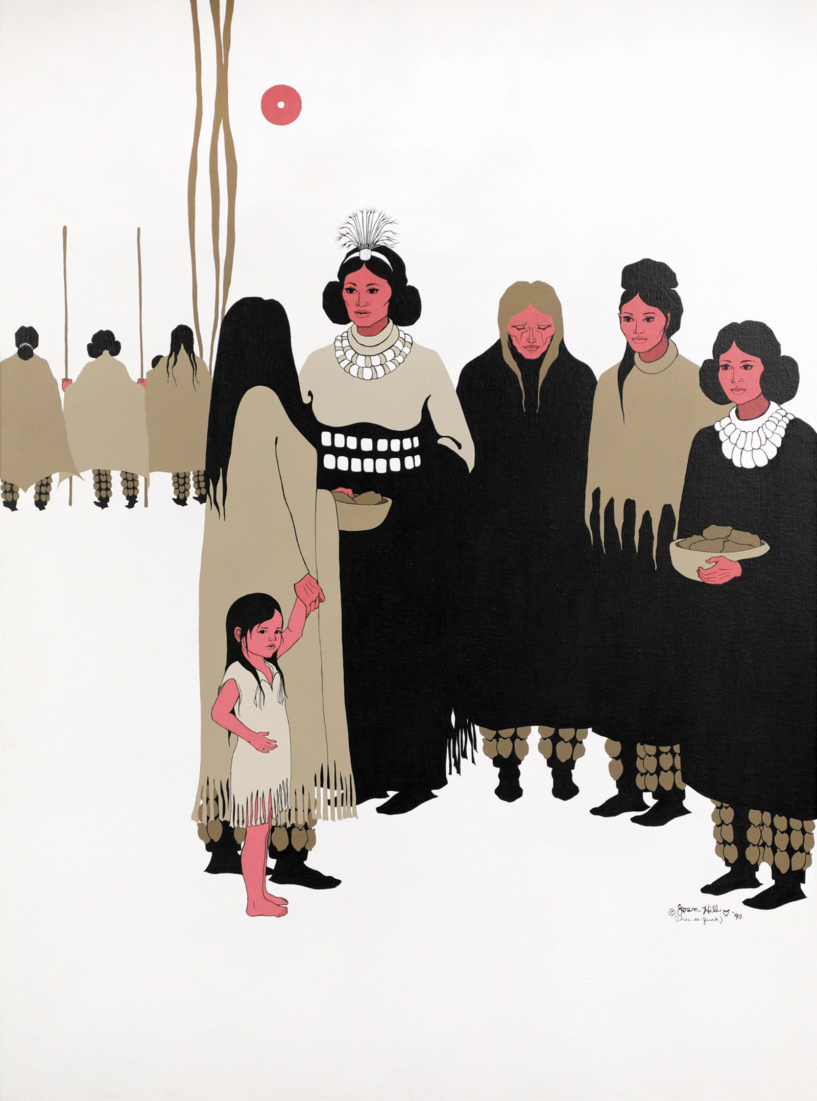 Women's Voices at the Council, artwork by Joan Hill