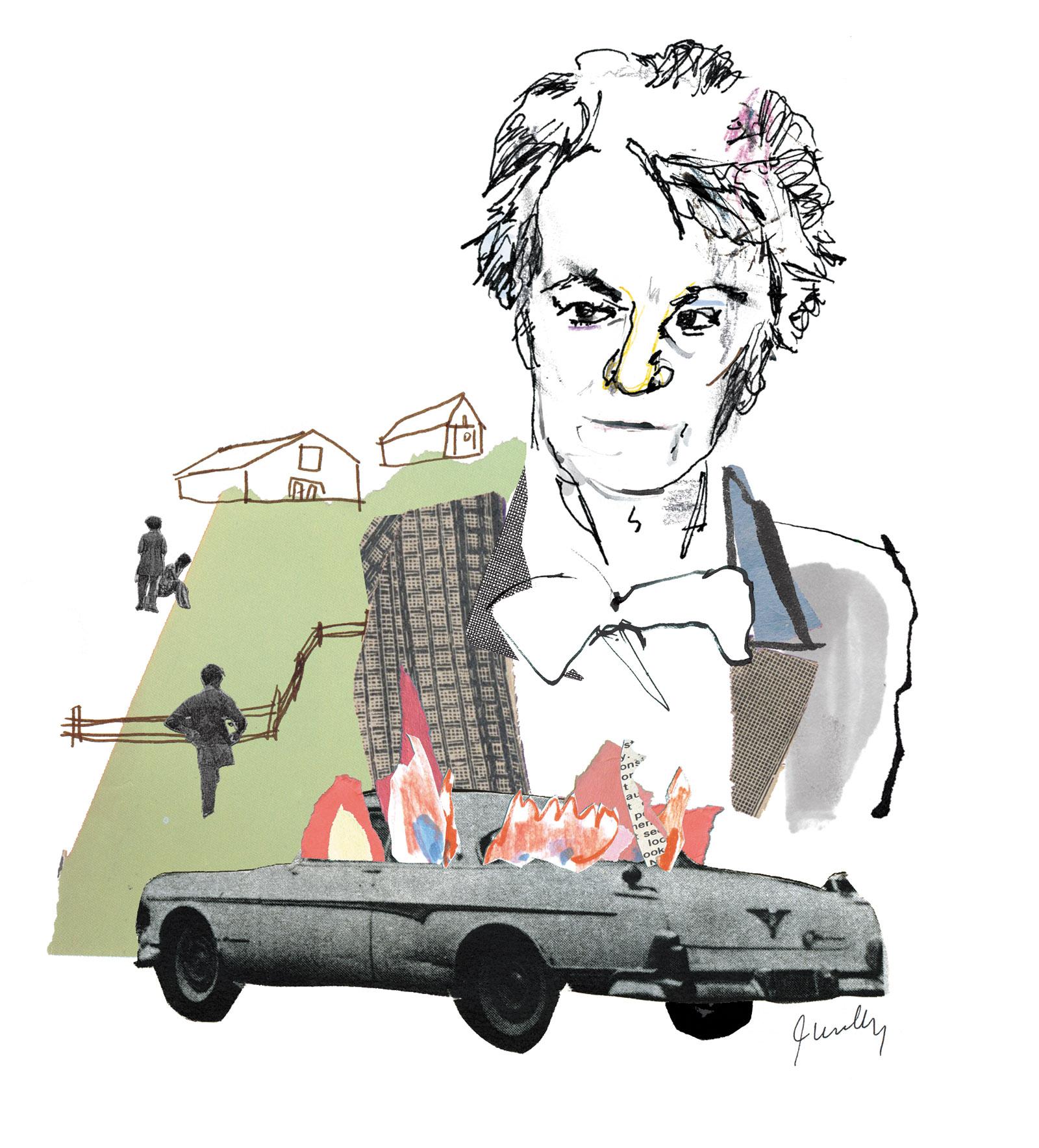 Drawing of Harper Lee