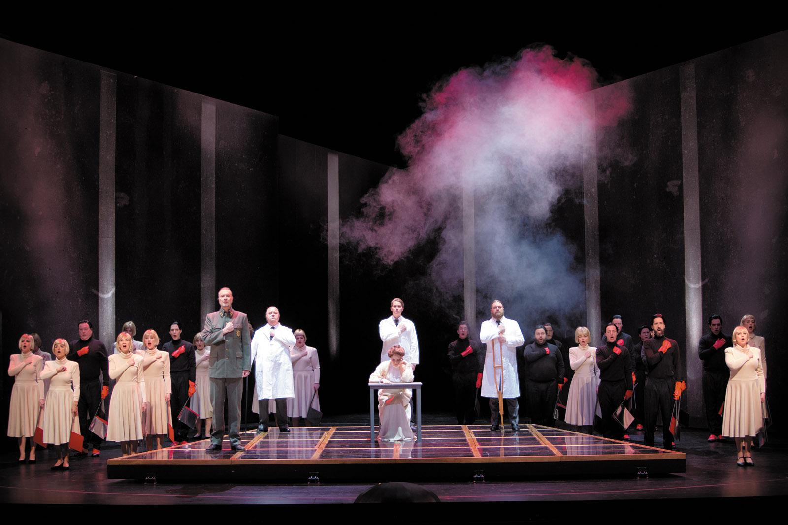A scene from the opera Aniara
