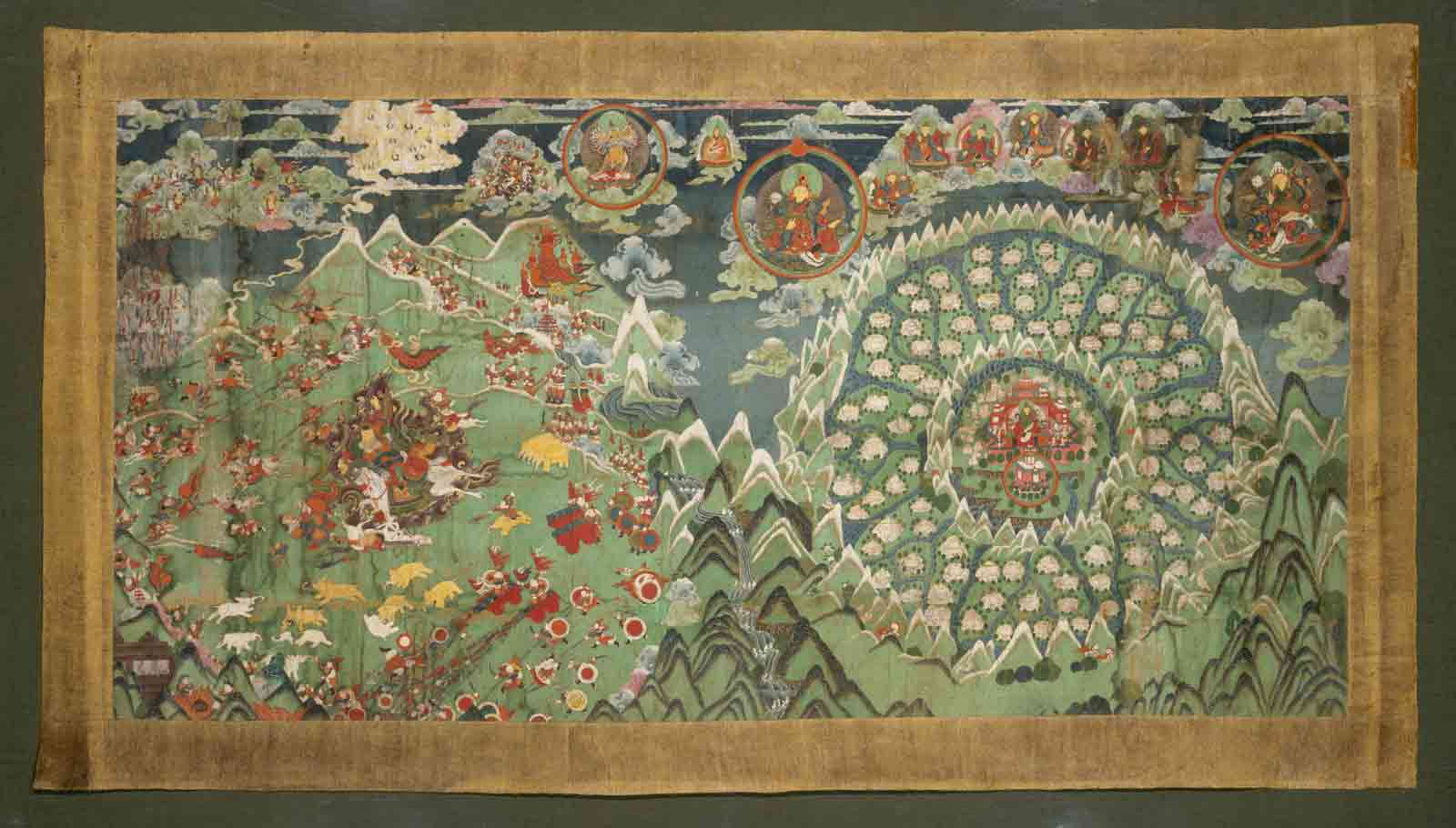 Kingdom of Shambhala and the Final Battle, Mongolia, nineteenth century