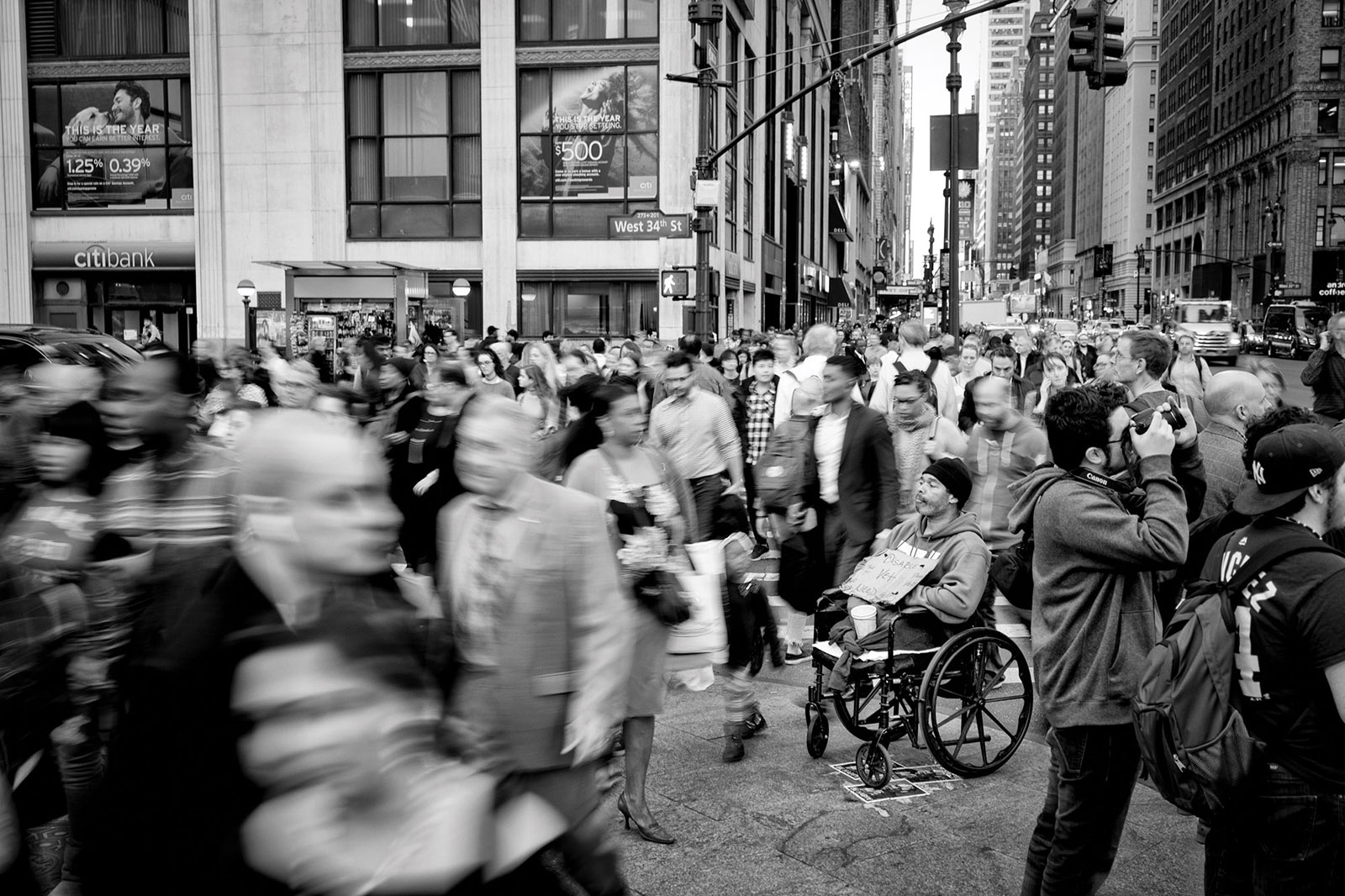 Rush-hour on 34th Street, New York City, February 21, 2018