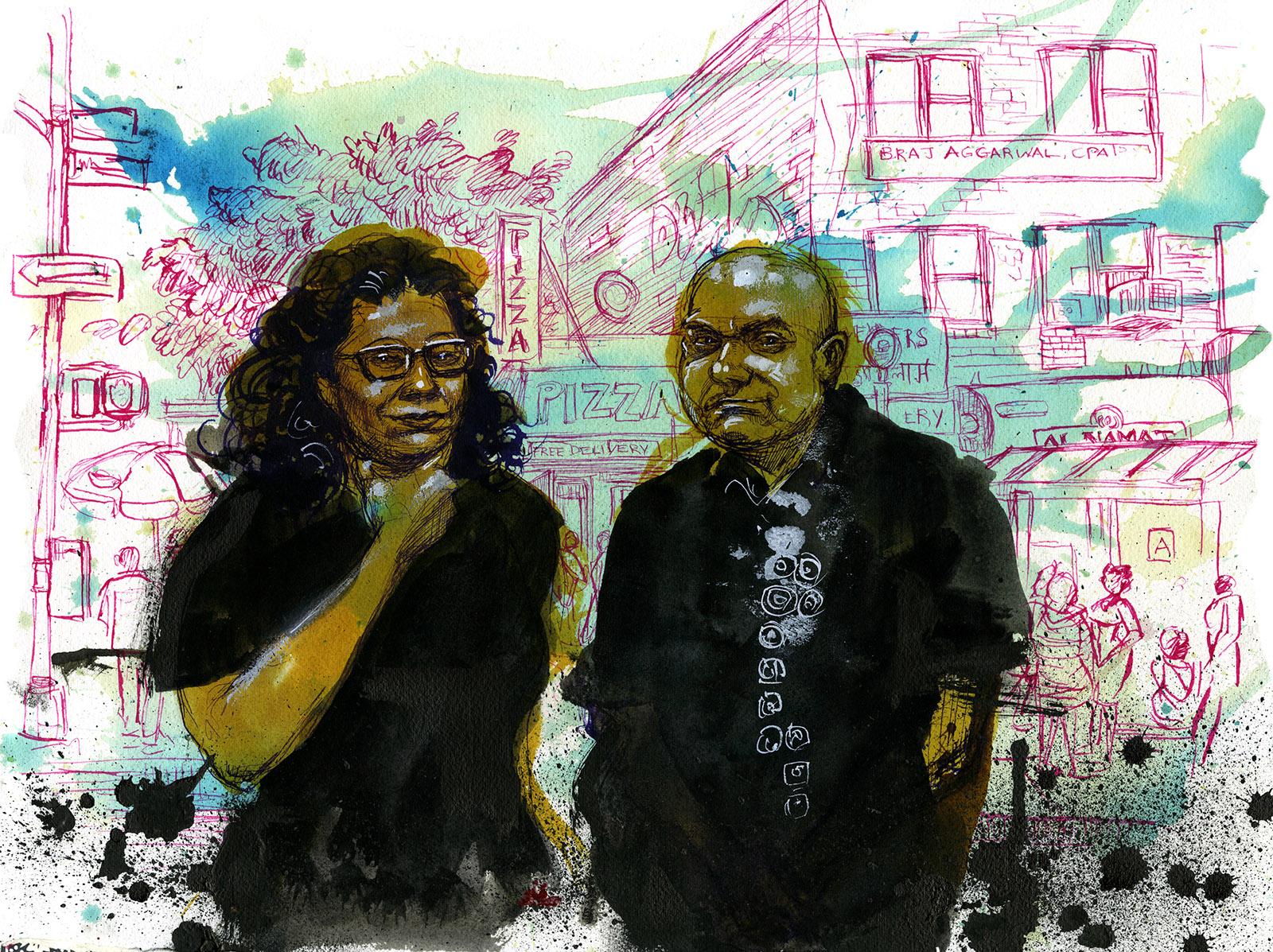 Maribel Hernández Rivera and her husband, Giddel Contreras, a TPS holder from Honduras, Queens, New York, July 20, 2019
