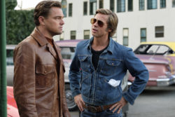 Leonardo DiCaprio as Rick Dalton and Brad Pitt as Cliff Both in Quentin Tarantino's Once Upon a Time in Hollywood, 2019