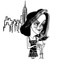 Catherine Barnett; drawing by Tom Bachtell