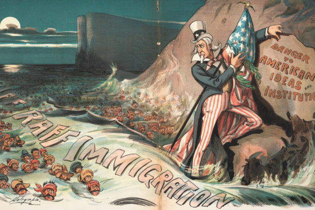 'The High Tide of Immigration—A National Menace'; cartoon by Louis Dalrymple from Judge magazine, August 1903