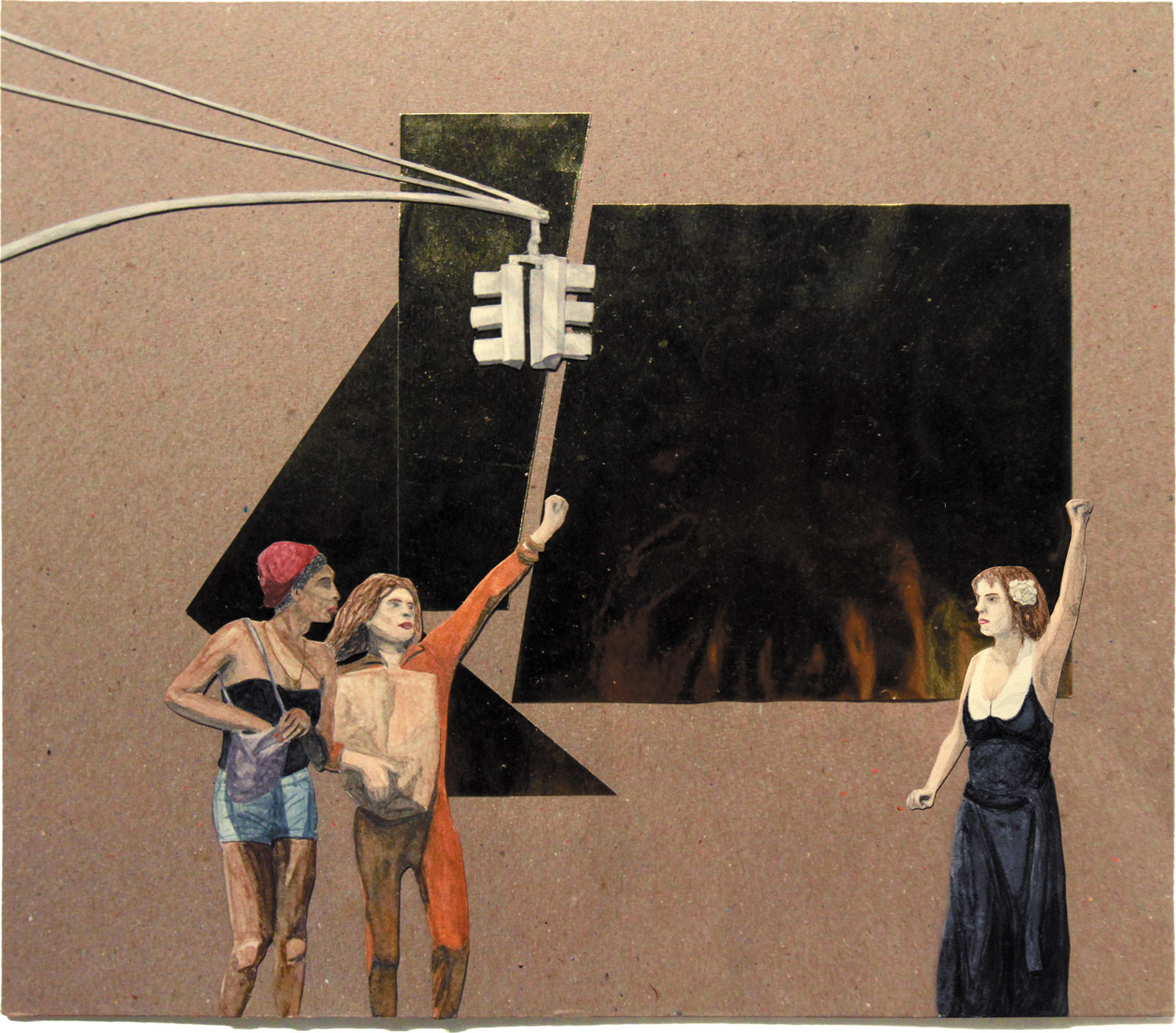 S.T.A.R., 2012, a painting of trans-justice activists by Tuesday Smillie