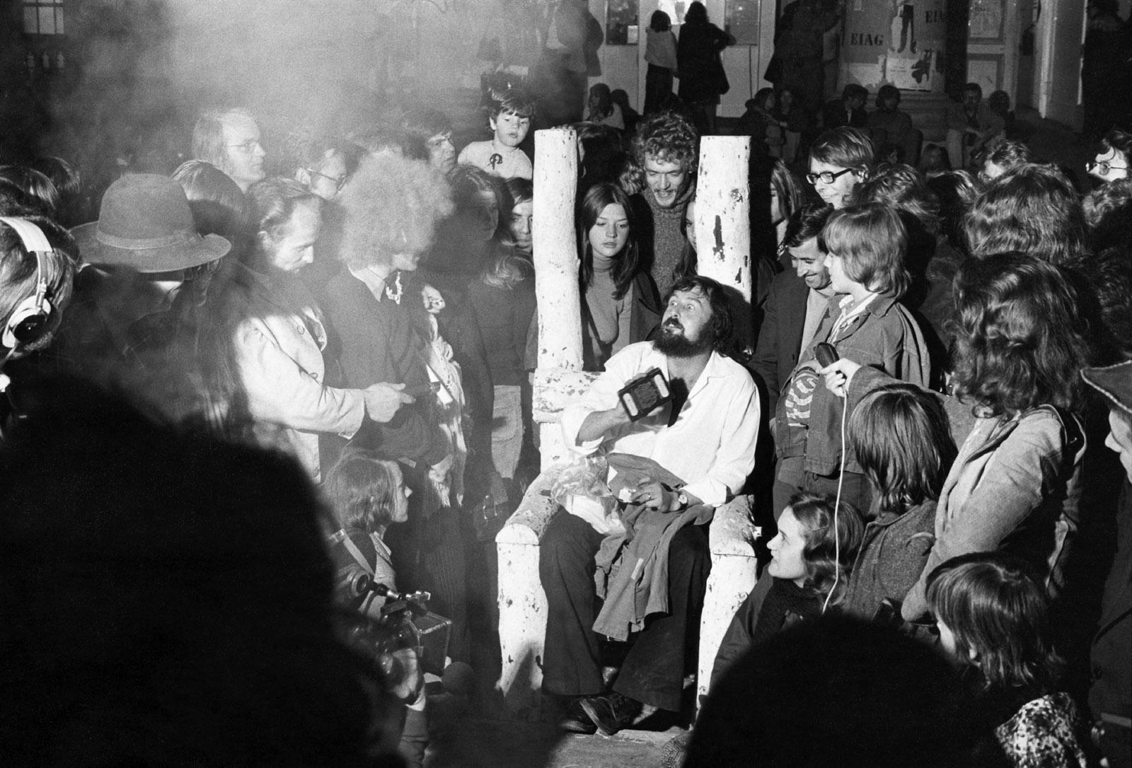 Harald Szeemann in 'Documenta 5: Questioning Reality—Image Worlds Today,' Kassel, Germany, 1972