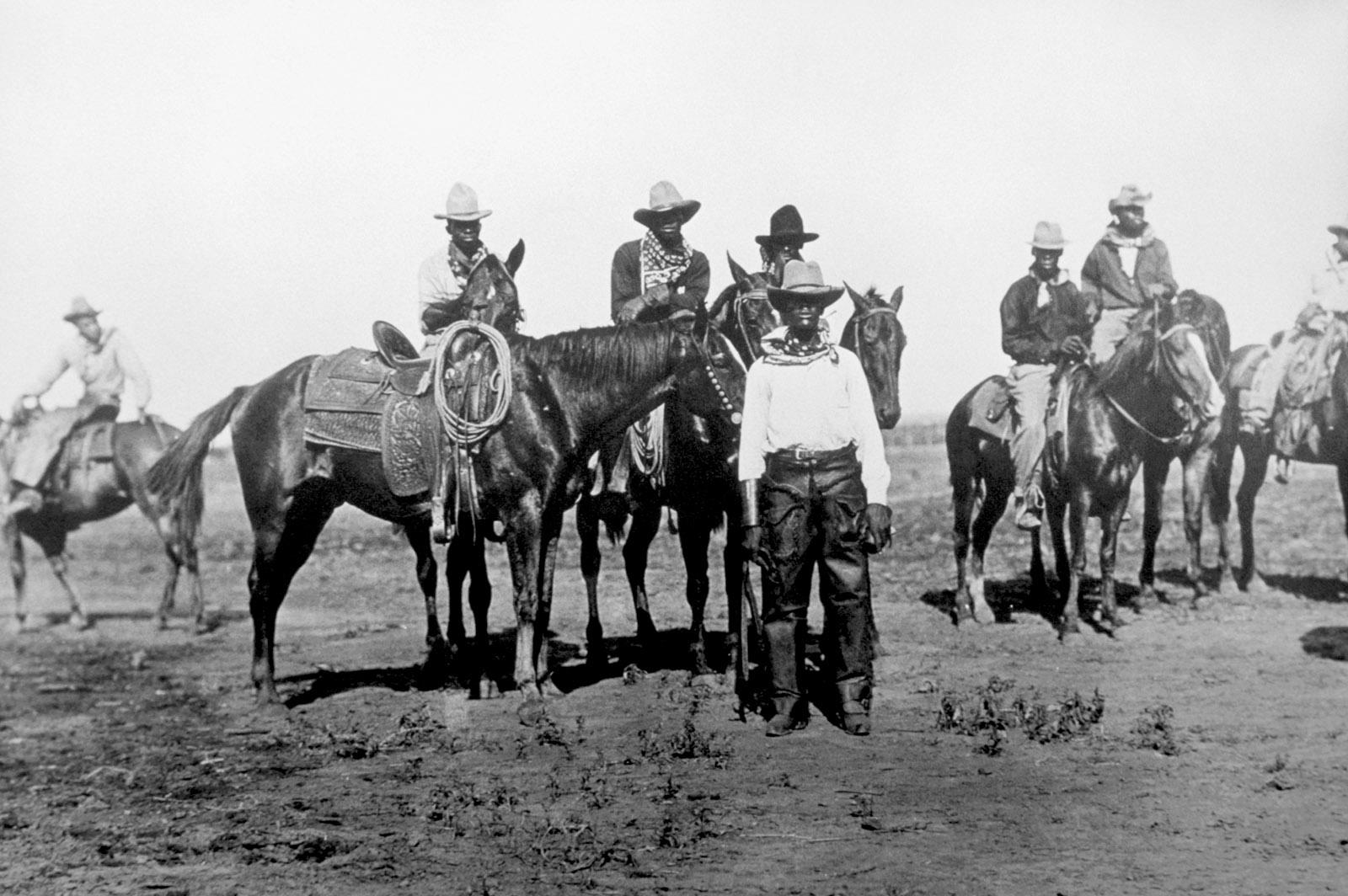 African-American cowboys in Bonham, Texas, circa 1913