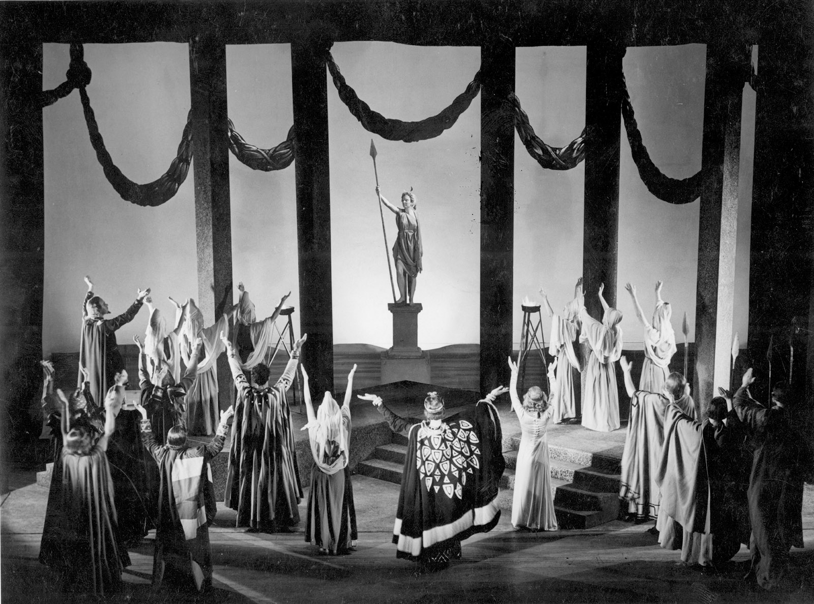 Photograph of a production of Pericles by the Royal Shakespeare Company, Stratford-Upon-Avon, 1947