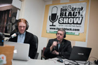Former white nationalist Derek Black and his father, Don Black, on their radio show The Don and Derek Black Show, December 2011