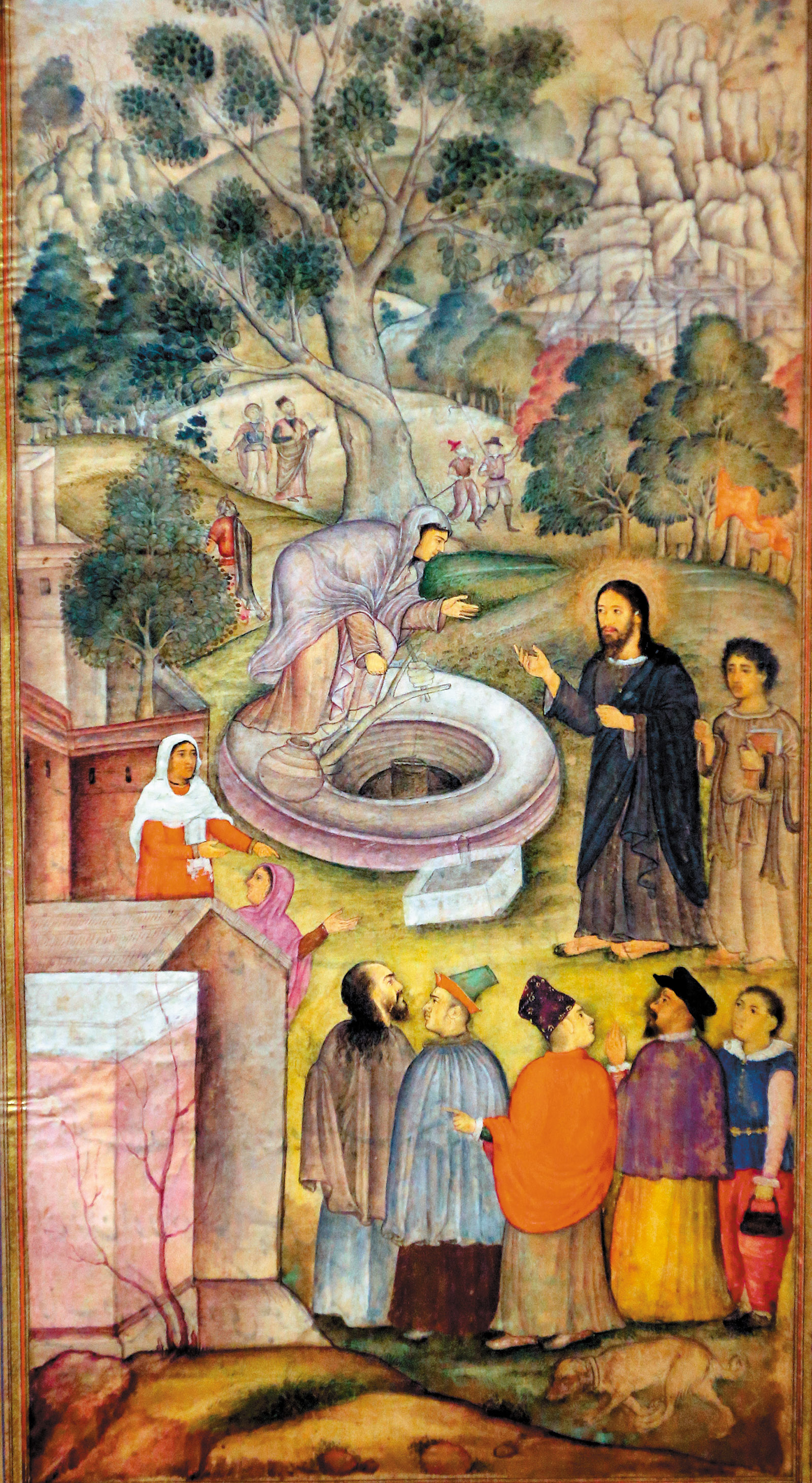 Jesus and the Samaritan woman at the well by the Jesuit priest Jerome Xavier