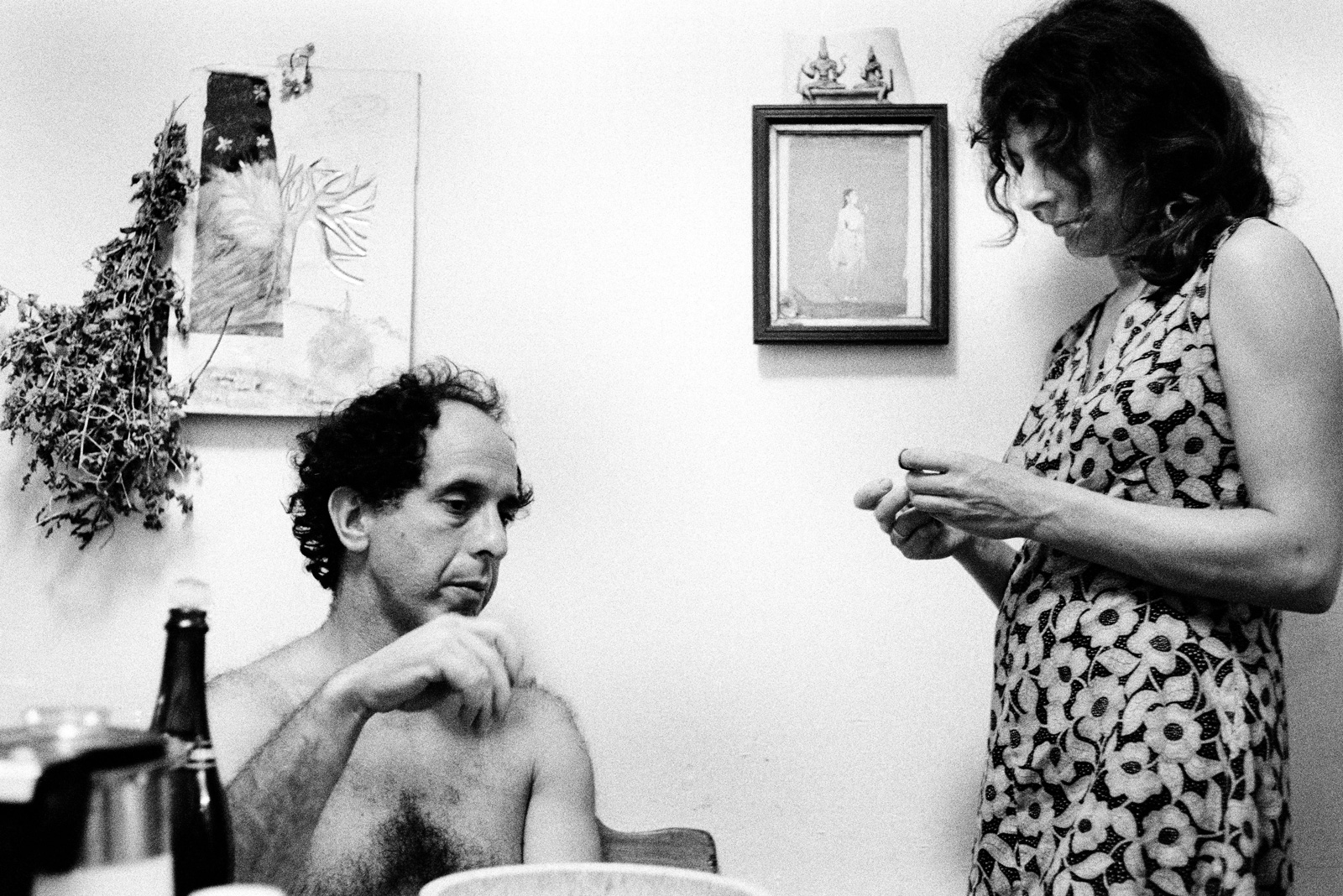 Robert Frank and Mary Frank, at their home on West 86th Street, New York City, 1969