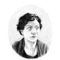 Minae Mizumura; drawing by Karl Stevens