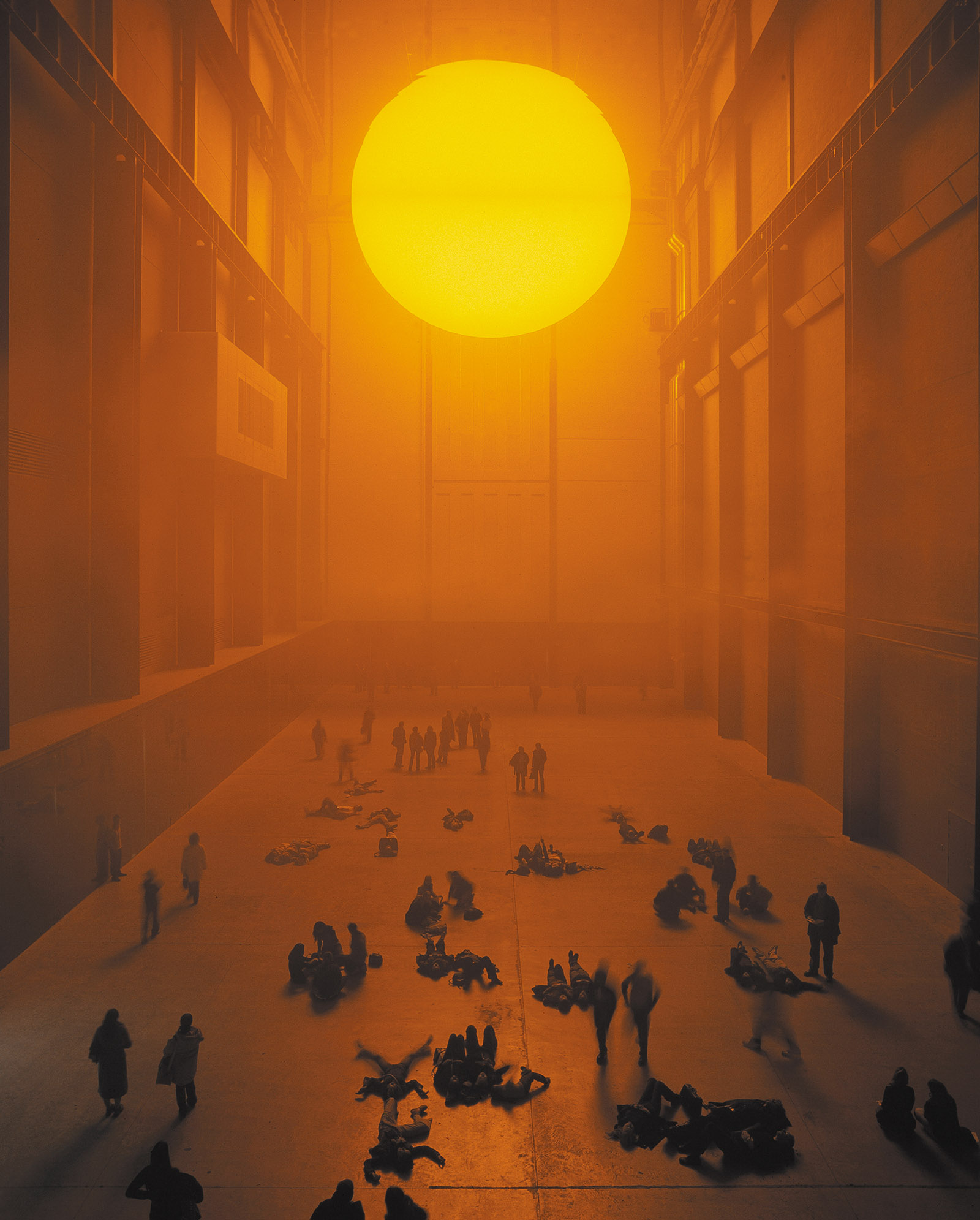 Photograph of Olafur Eliasson's The weather project